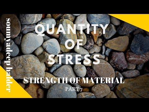 which kind of quantity of stress:: STRENGTH OF MATERIAL PART 7::