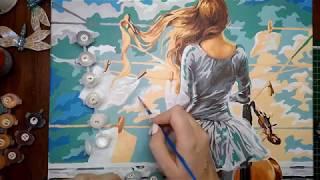 Доработка картины по номерам! Размытие границ, разведение краски.