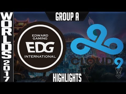 EDG vs C9 Highlights | 2017 World Championship Day 8 Group A Worlds 2017 Edward Gaming vs Cloud9