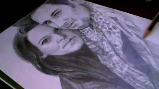 couple portrait speed drawing ( latvian )