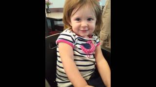 Adorable 18 month old girl says I don't know & no