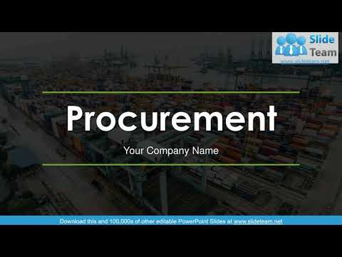 Procurement PowerPoint Presentation Slides