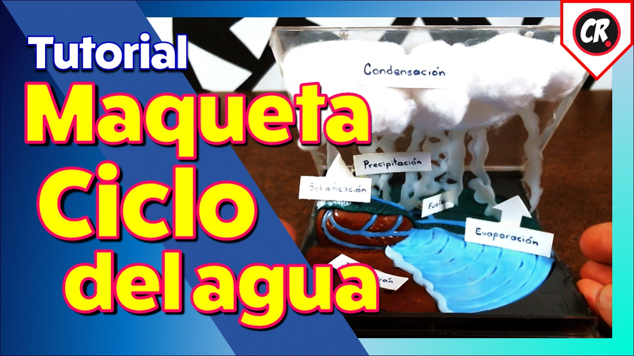 Maqueta Ciclo Del Agua Facil Y Tutorial Paso A Paso Proyecto