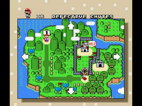 Super mario world hack two minute mario overworld youtube gumiabroncs Image collections