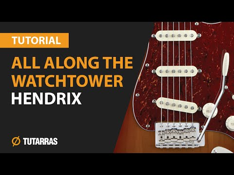 How to play All Along The Watchtower from JIMI HENDRIX Electric Guitar GUITAR LESSON