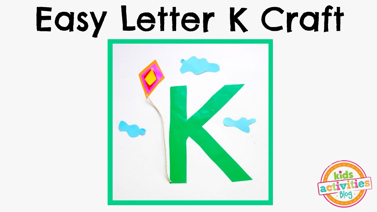 easy letter k craft preschool alphabet resource kids activities