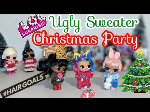 LOL Surprise #Hairgoals Series 5 DIY Ugly Sweater Christmas Party
