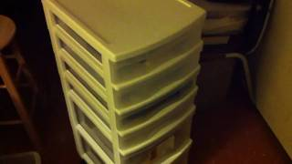 Random Product Review - Gracious Living - Plastic Storage Drawers (4 shalow, 2 deep)