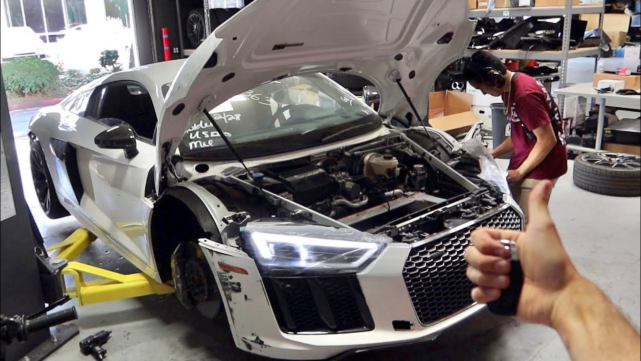 MY AUDI R8 IS BACK FROM THE FRAME SHOP!!!