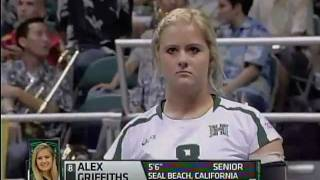 4 aces Alex Griffiths Hawaii Rainbow Wahine volleyball