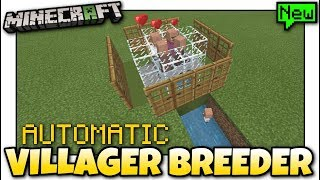 Minecraft - AUTOMATIC VILLAGER FARM [ Tutorial ] MCPE / Xbox / Bedrock