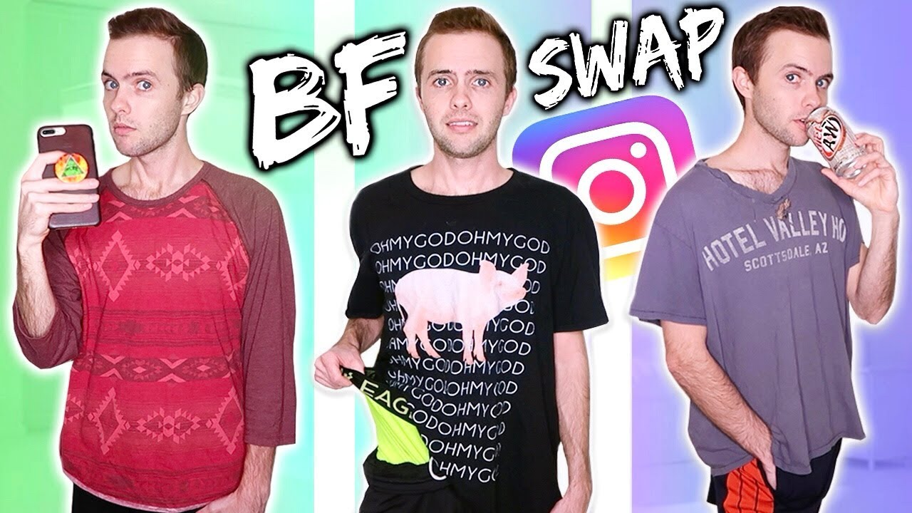 I WORE MY BOYFRIEND'S CLOTHES FOR A WEEK!