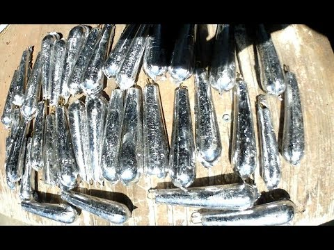 Making Lead Fishing Weights / Sinkers