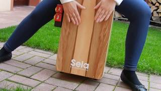 Cajon Sela Casela Satin Nut  and Sela Tic Tac - test
