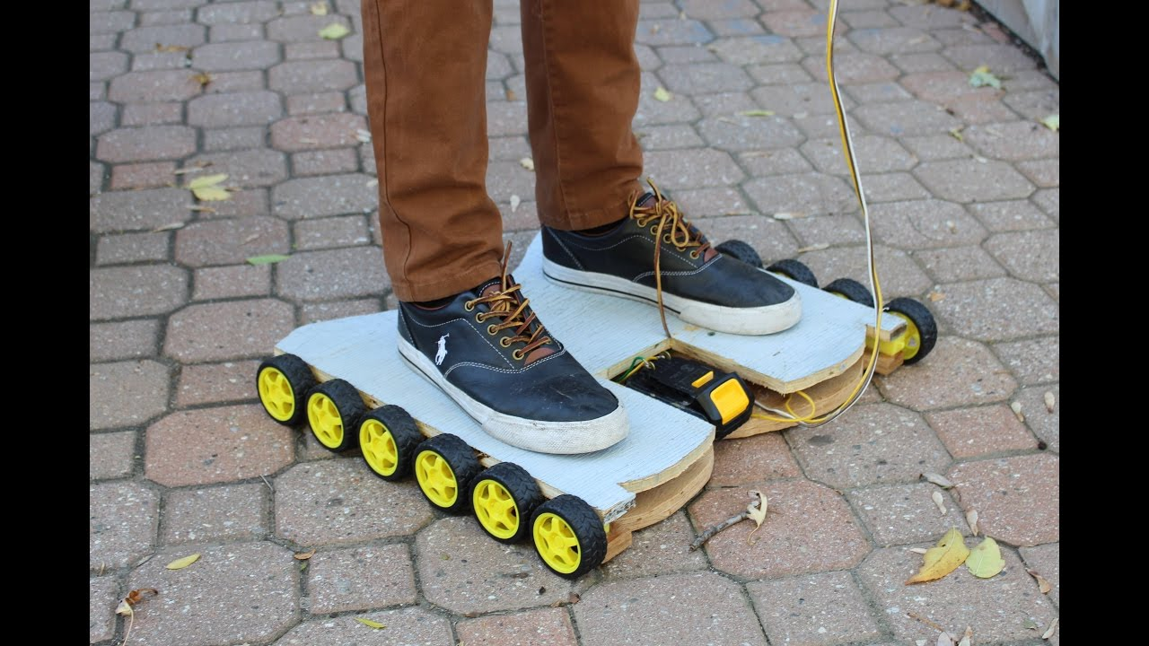 How To Make A Simple Homemade Hoverboard Youtube