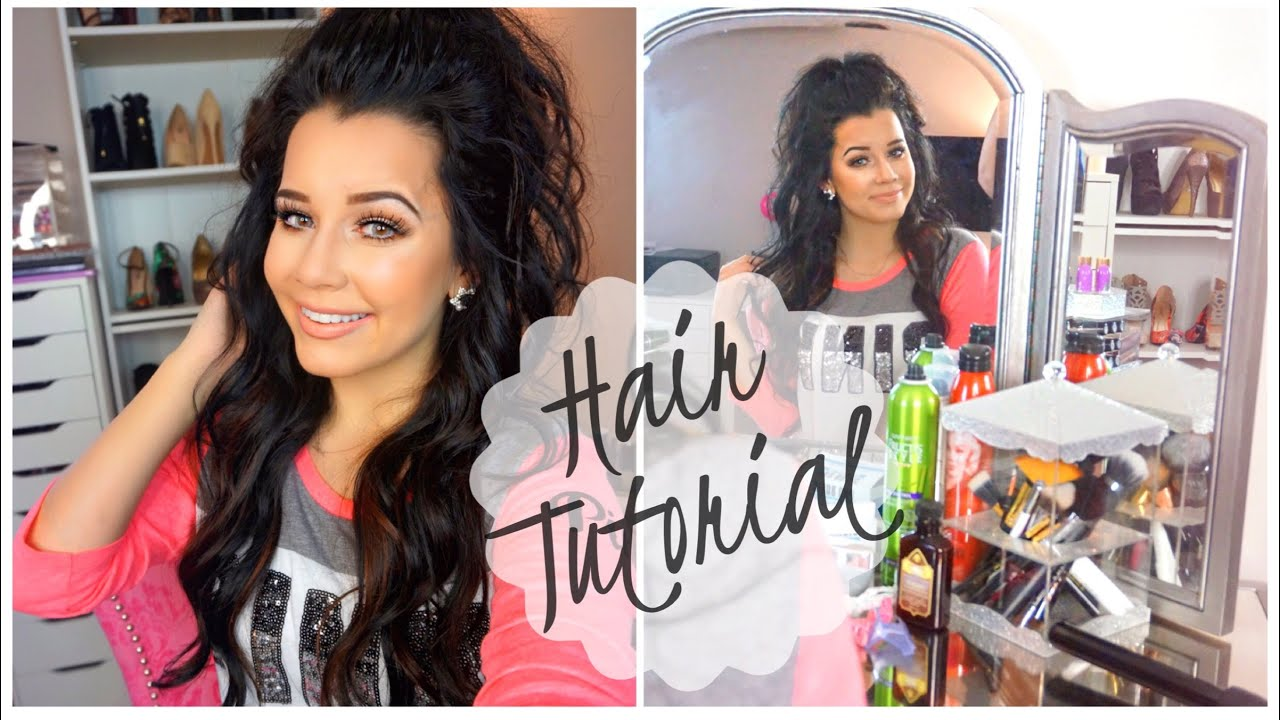 Hair tutorial half up half down pony with extensions youtube pmusecretfo Choice Image
