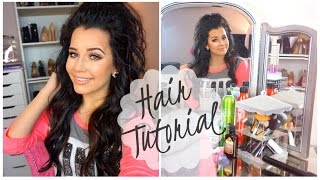 Hair Tutorial | Half Up-Half Down Pony WITH EXTENSIONS!