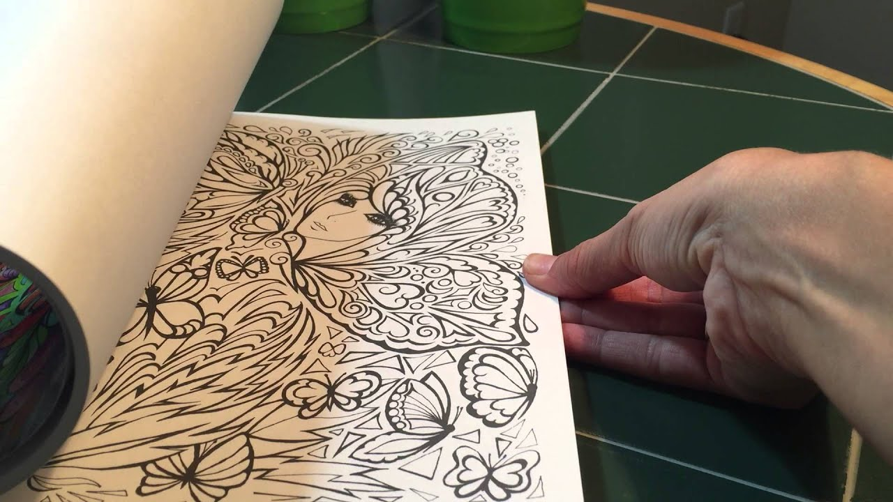 Preview Of Adult Coloring Books