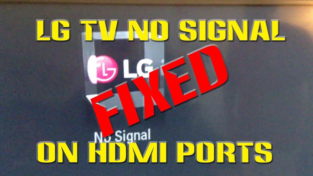LG TV No Signal HDMI FIXED