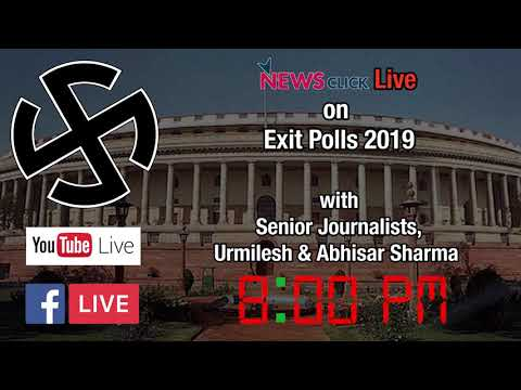 Stay Tuned for Live on Exit Polls 2019 with Senior Journalists, Urmilesh & Abhisar Sharma