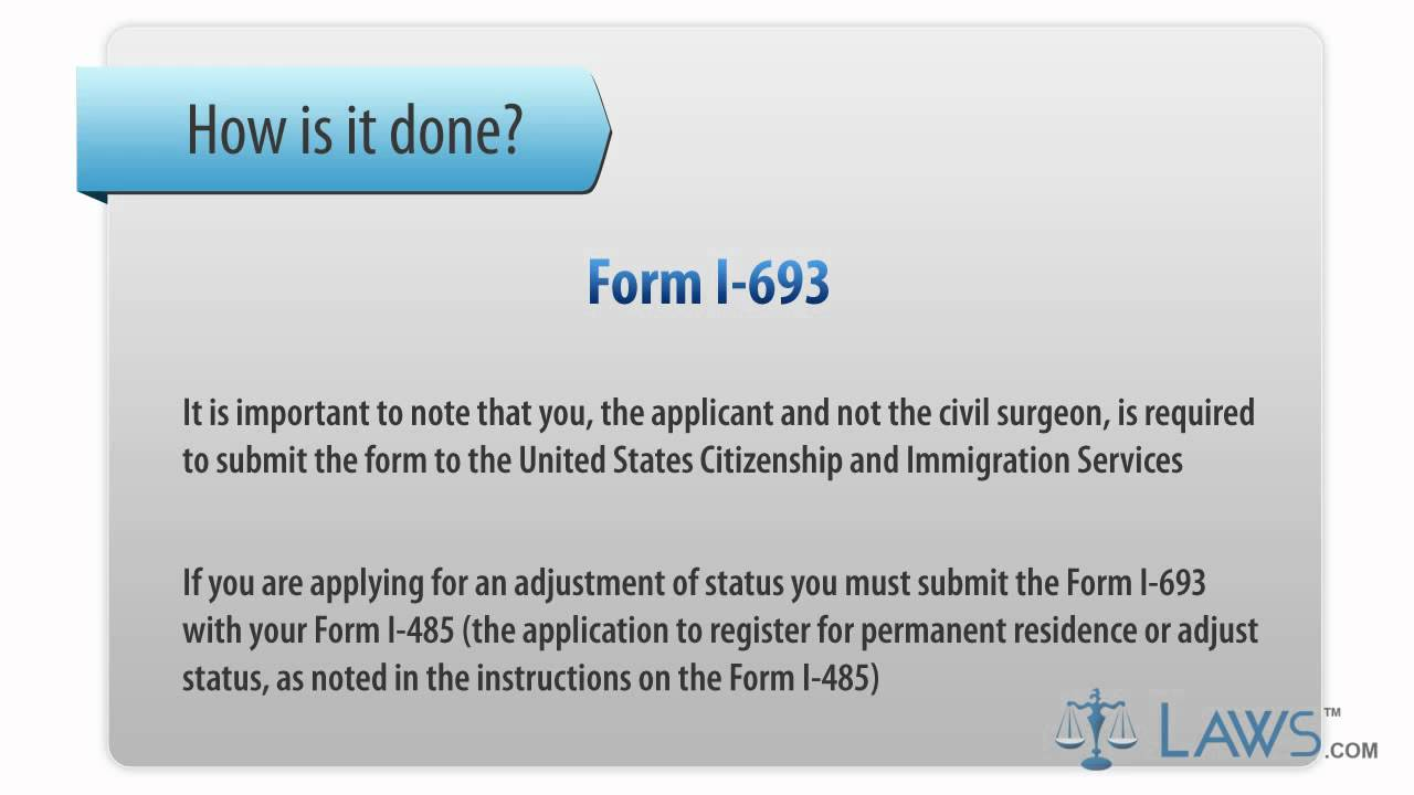 Learn How to Fill the I-693 Form Medical Examination and ...