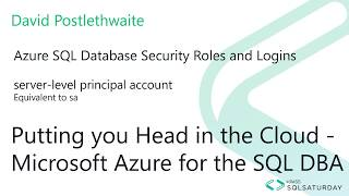 Server Roles and Azure Active Directory in an Azure SQL Database