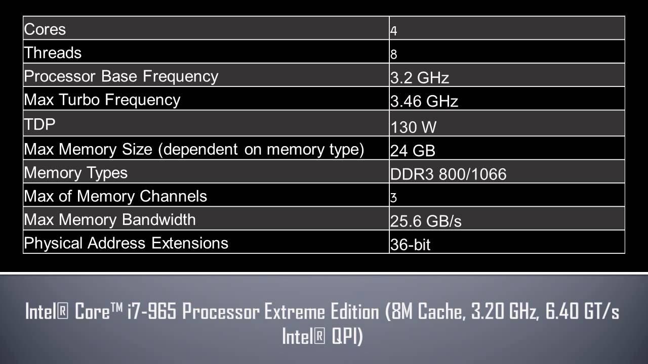 Slbcj used intel core i7 quad core processor i7-965 3. 46ghz 8mb l.