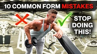 10 Common Form Mistakes in The Gym | Good vs Bad Form | Zac Perna