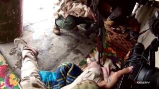 Ближний бой против ИГИЛ слышны голоса боевиков. Русские субтитры.