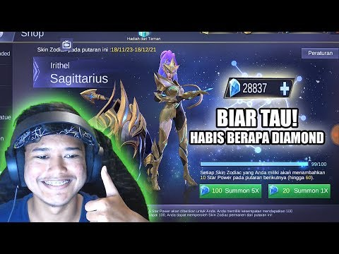 IRITHEL ZODIAC SKIN! HABIS BERAPA DIAMOND YA HMM - Mobile Legends Indonesia