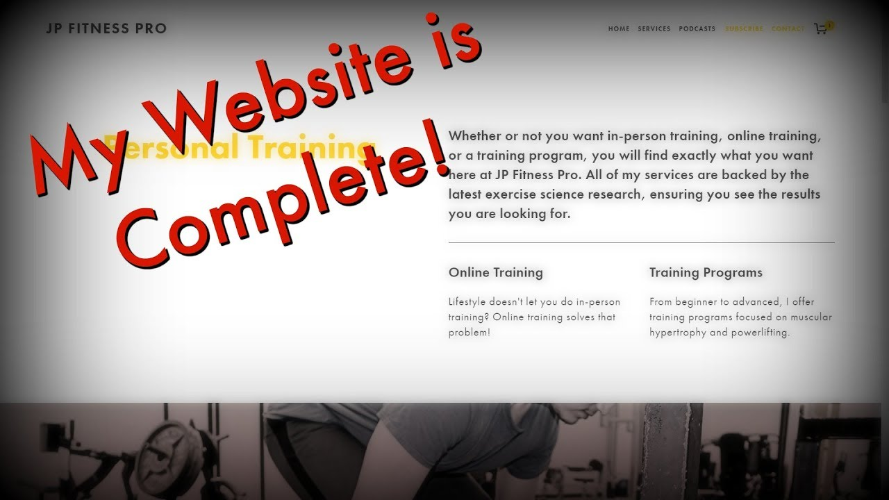 My Website is Finished! Online Training & Training Programs