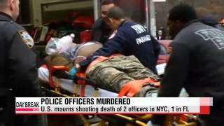 NYC mourns murder of two police officers, another cop killed in FL   뉴욕서 경찰 2명 사