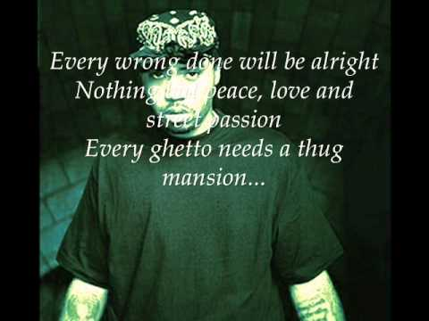Tupac ft. Nas-Thugz Mansion (acoustic version with lyrics on screen)
