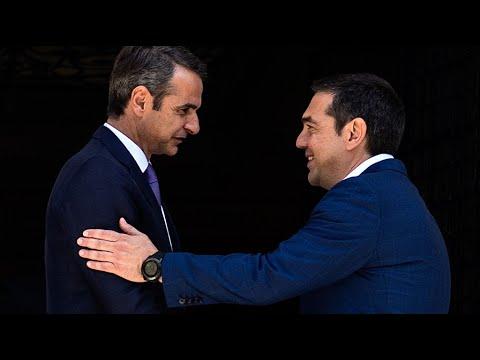 Grèce: Kyriakos Mitsotakis prend ses fonctions de Premier ministre | AFP Images