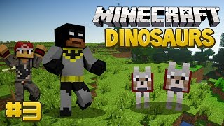 Minecraft Dinosaurs Mod (Fossils and Archaeology) Survival Series, Episode 3 - Doggy Door!