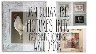 DOLLAR TREE DIY FARMHOUSE WALL DECOR