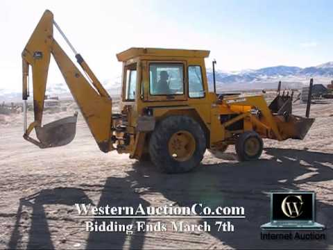 John Deere 410-D Loader Backhoe | Nevada Farm Auction