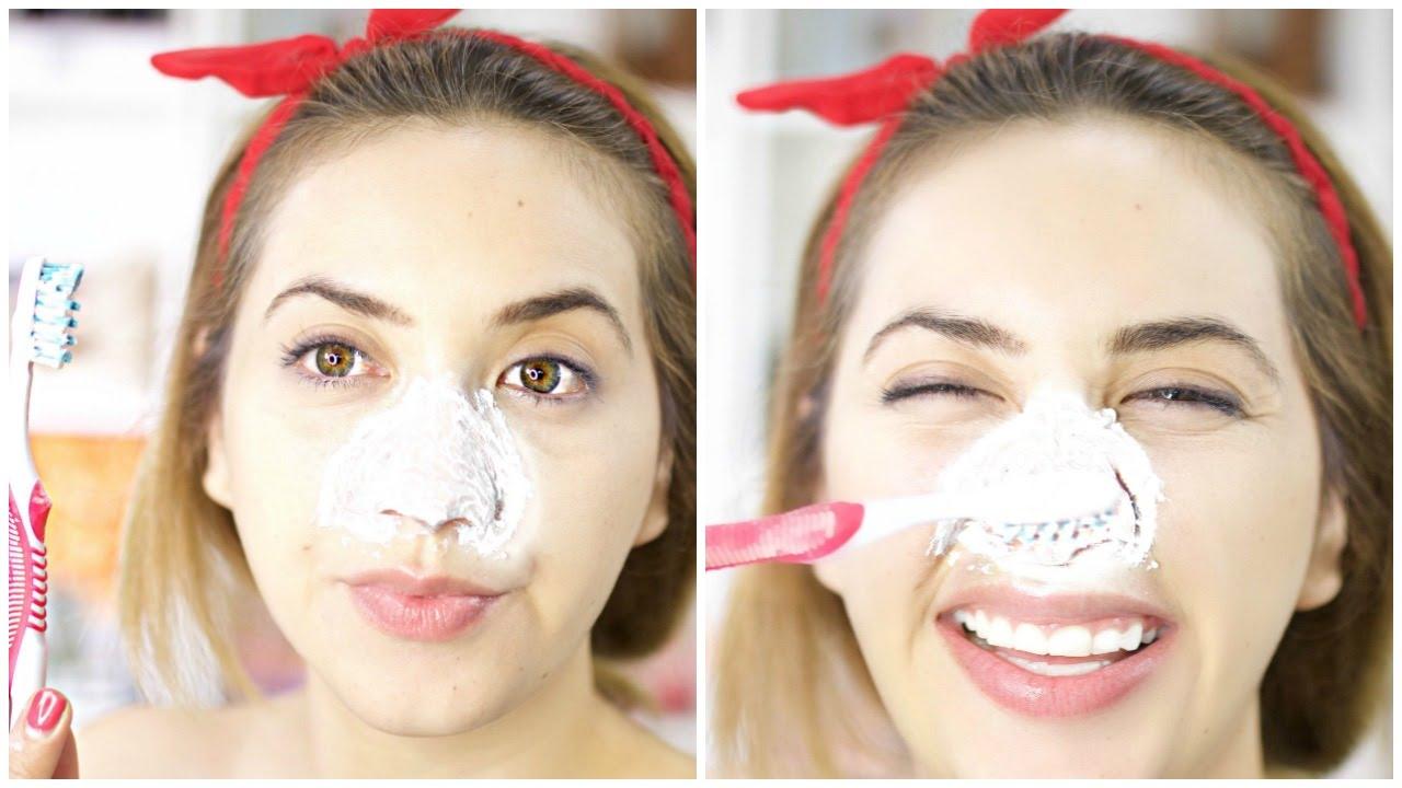 Crema dental para granos en la cara