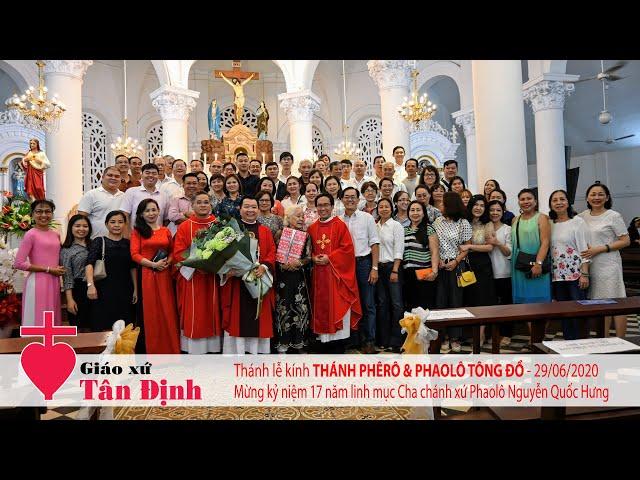 Thánh lễ mừng kính Thánh Phêrô & Thánh Phaolô Tông Đồ - 29/06/2020