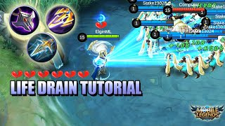 LIFE DRAIN TUTORIAL - HOW TO COUNTER WITH LIFE DRAIN - MLBB