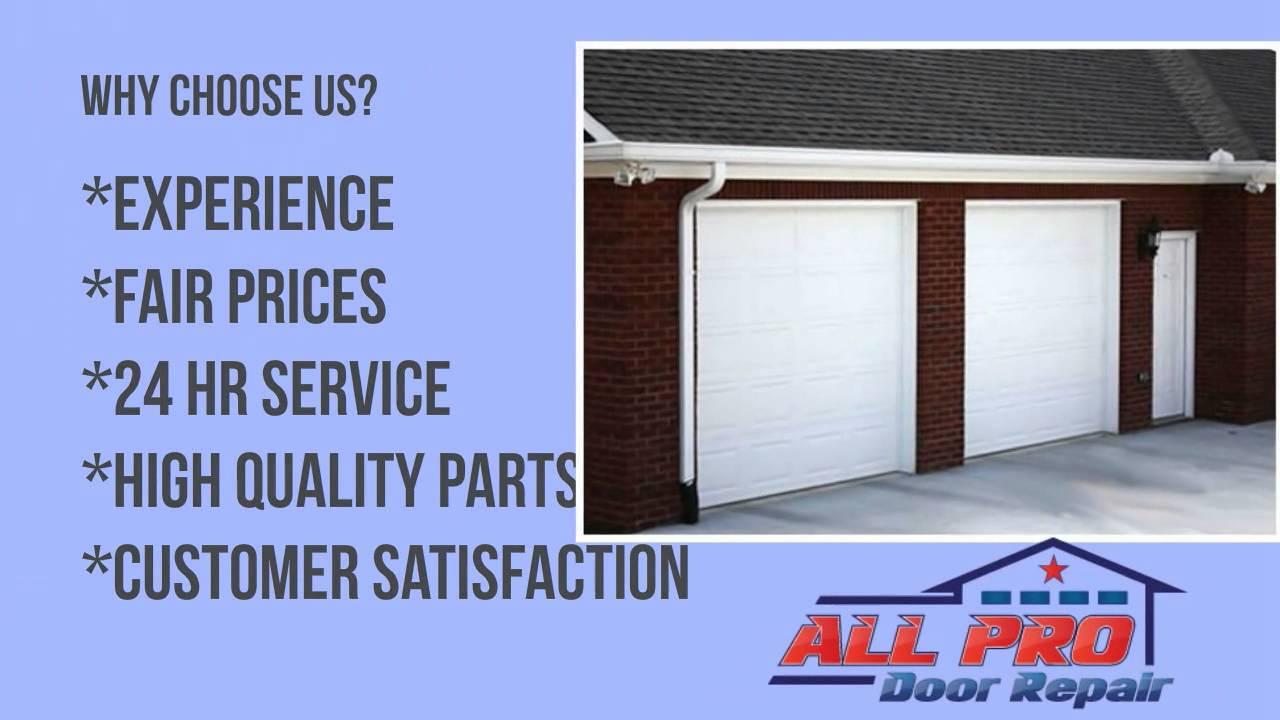 Dallas Fort Worth Garage Door Repair And Gate Repair   All Pro Door