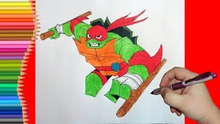 How to draw Raphael, TMNT 2018, Как нарисовать Черепашку Ниндзя