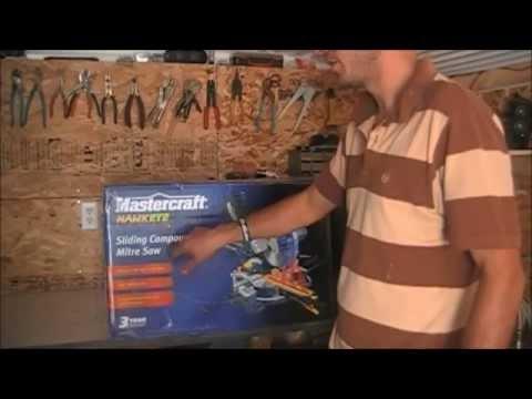 Mastercraft 10 inch slidding Mitre Saw hawkeye dual laser