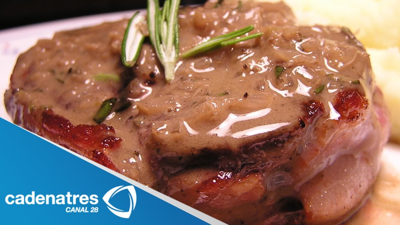 Receta para preparar filete de res relleno de champi ones for Cocinar en 5 min