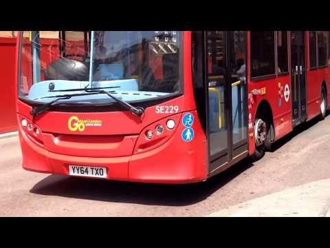 Bus Route 100 at Liverpool Street Station (YY64TXO E200  Euro 6 Allison)