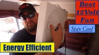 Best 12 Volt Fan on Amazon Fantastic Vent Fan Endless Breeze Energy Efficient Box Fan Review Specs