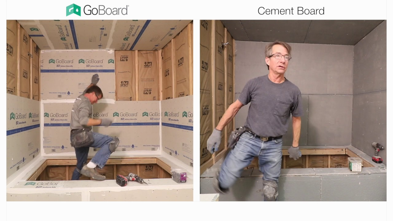 GoBoard vs. Cement Board Shower Installation - YouTube