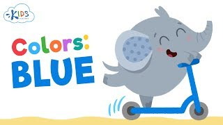 Learn Blue Color for Babies, Toddlers and Preschool Children  ESL Lessons  Kids Academy