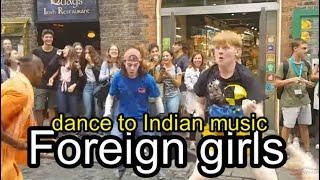 LIVE |भारतीय संगीत पर विदेशी लड़कियों का नृत्य Foreign girls dance to Indian music