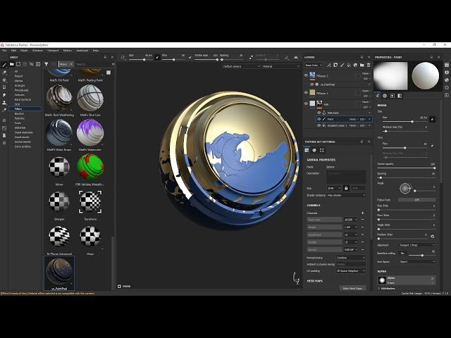 Using ys_PaintPeel filter for Substance Painter in 2021